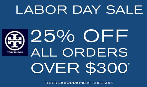 tory burch labor day discount code promotional code